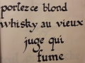 calligraphie au calame
