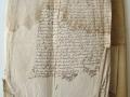 1 sur 4, corpus composé de papiers vergé, de parchemins et de cires (recto) avant restauration.JPG