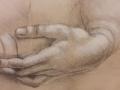 craie et crayon sur fond teinté bis