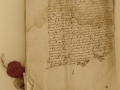 3 sur 4, corpus composé de papiers vergé, de parchemins et de cires (recto) après restauration.JPG